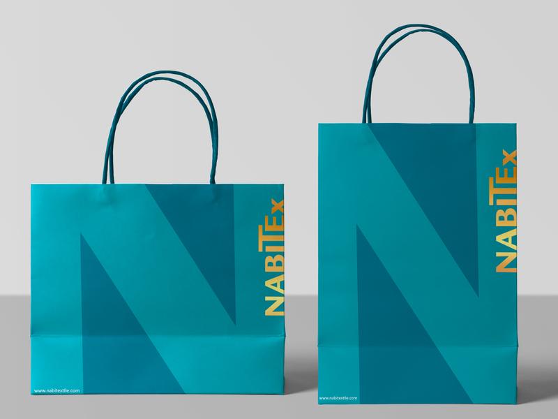 NabiTex | Paper Shopping Bags foil stamped paper bag shopping bag design vector logo photoshop identity branding