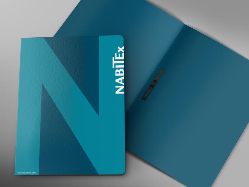 Front and Inside Folder Branding | NabiTex folder design photoshop illustration identity design branding illustrator