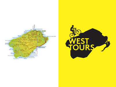 West Tours - Adventure and Guided Tours  // Branding map island design adventure clever travel vector logo illustration branding