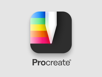 Procreate Icon Redesign procreateapp app vector colors apple pencil colorful redesign procreate illustration logo icon branding