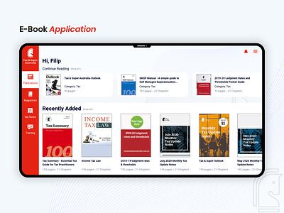 E-Book Application web application interaction design ux design ebook layout icons ui ux user experience application books super tax landing ebooks dashboard design app ui