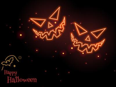 Spooky Halloween illustration reds vector vectorart illustrator dribbblecommunity devilish weeklywarmup scary halloween neon neon rebound halloween design dribbblewarmup dribbblechallenge spooky halloween