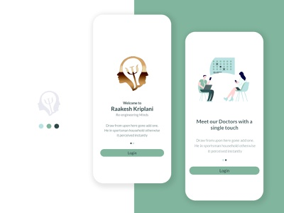 Appointment Booking - Splash adobe adobexd uidesign calendar doctor booking appointment mobile app infographic flat vector design ux design interaction design illustration