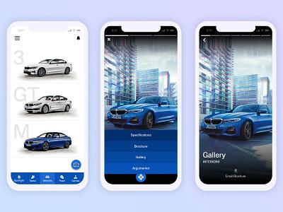 BMW Sales App car interactive vehicles ui modern designs mobile automobile sales app bmw mobile app car models design ux design interaction design