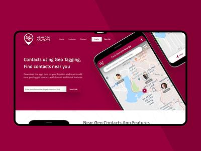 Landing Page flat ui infographic minimal ux design interaction design interaction logo mobile landing page app website design landing website color