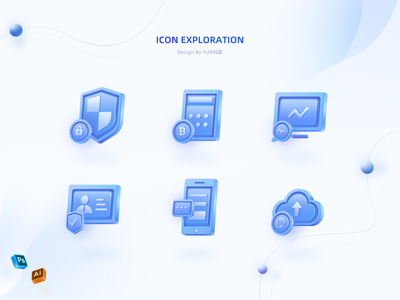 Icon exploration 3d icon data encryption chat online authentication security app security branding icon ui design