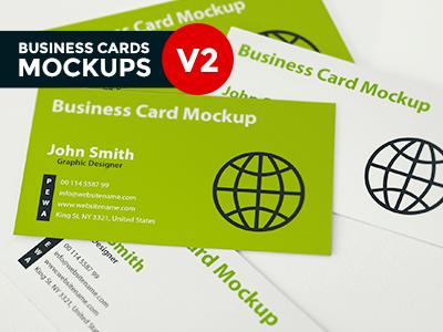Business Card Mockup V2 business card business card mockup business card realistic mockup depth of field mockup perspective photo-realistic presentation free business card mockup mockups