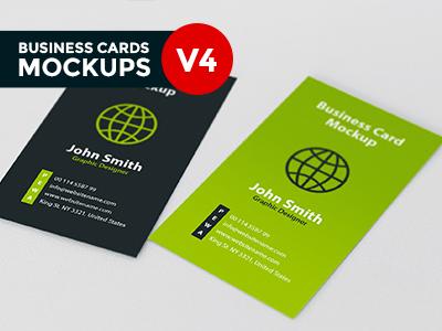 Business card mockup v4