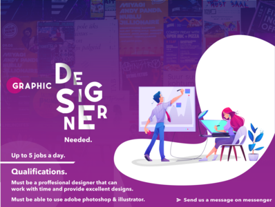 design for a branding agency recruiting designers