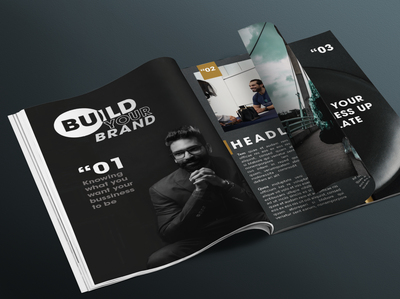 Build your brand magazine design