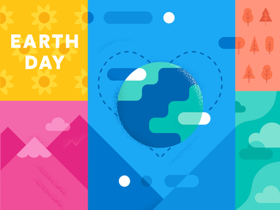 Happy Earth Day illustration earthday environment nature earth day earth