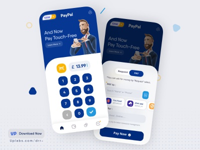 Paypal Design For IOS payment app bank pay navigation bar ios mobile ui payment redesign digital wallet wallet paypal