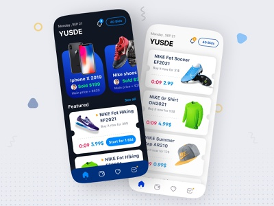 Shopping Mobile UI Design ios iphone application app navigation bar menu design menu bar list view shoos bid index page product design branding mobile ui ui design mobile