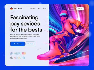 Financial colourful website ui minimal mobile blue colourful paypal deutsch finance product design ux ui design branding illustration ui