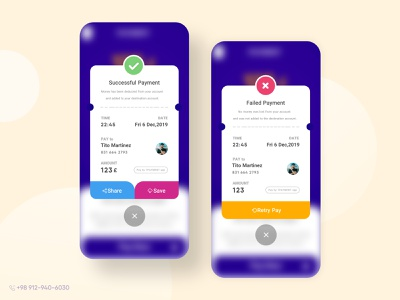Transaction receipt receipt transition mobile ux application ui design uiux ui
