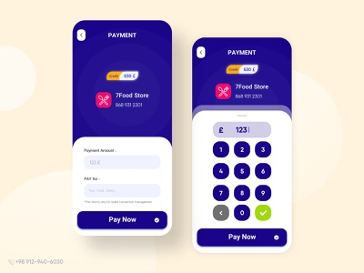 7Pay app ui design ios mobile money pay payment uiux ui