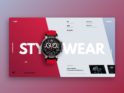 Watch Brand | E Commerce product men fashion style application landing page website graphic design identity app mobile web design e commerce branding ui