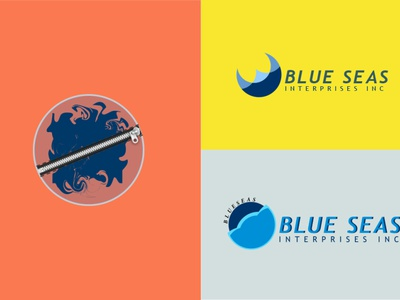 blue sea brand logo illustration vector future logo design modern logo branding logo business logo