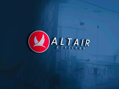 ALTAIR AIRLINES brand logo future logo modern logo illustration business logo vector logo
