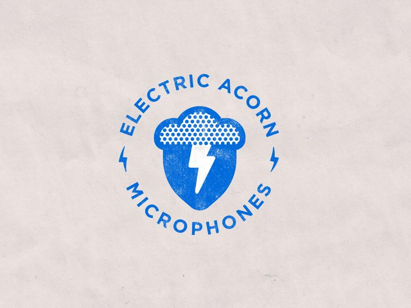Electric Acorn Microphones badge illustration icon logo