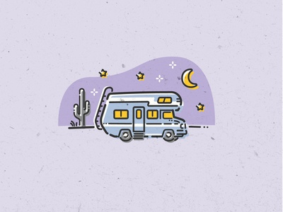 Spot Illustrations for Twine - Overnight Camper