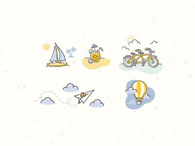 Spot Illustrations for Twine - Bon Voyage