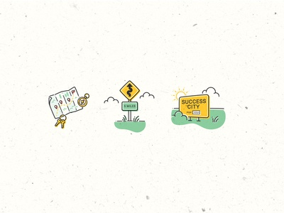 Spot Illustrations for Twine = Road Trip