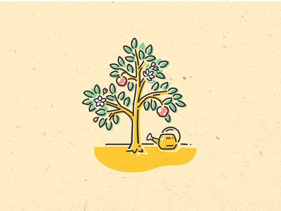 Spot Illustration for Twine - Apple Tree
