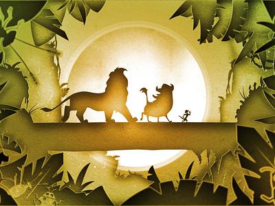 Lion King aftereffects vector design illustration 2d