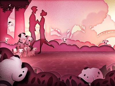 101 Dalmatians aftereffects vector design illustration 2d