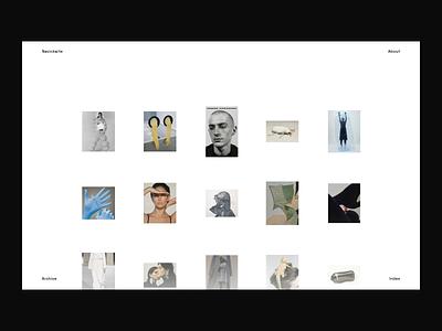 Tumblr Custom Web Design Theme parallax photo ux web design web page landing feed gallery ui interaction minimal design