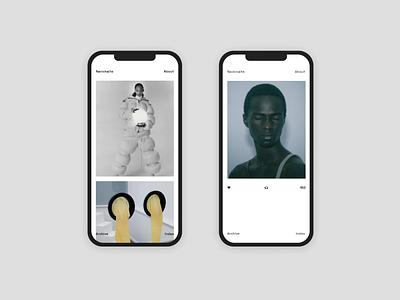 Tumblr Custom Web Design Theme Mobile UI mockup iphone mobile graphic responsive web app ux ui simple contemporary design interaction minimal clean