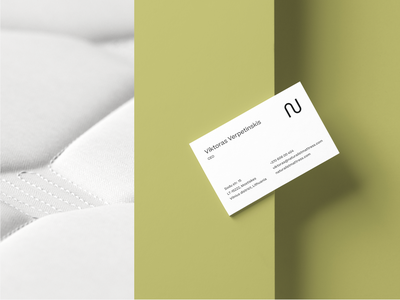 Naturalist Mattress Brand Business Card branding business cards layout typography graphic studio outer naturalist mattress organic natural friendly eco green minimal clean design business card card business