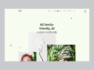 Web Design for Ecodenta - Product Line Inner Page website web ux ui toothpaste parallax page organic natural minimal line landing interaction inner green friendly ecommerce eco product design