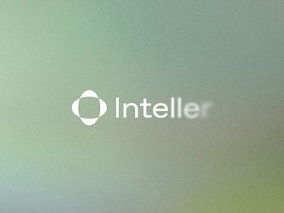 Inteller Logo mark type symbol reveal blurred blur clean logo design visual brand animated logotype design icon outer logo typography identity branding minimal
