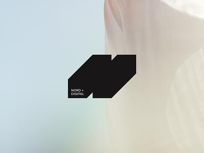 Nord Digital monogram logotype 3d cube square shape simple agency icon studio outer logo identity branding minimal design