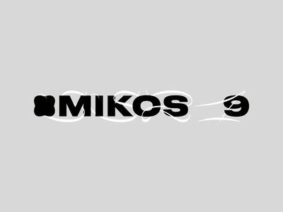 MIKOS 9 Logo Animation branding type typography logo identity creative outer agency studio minimal design
