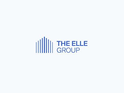 The Elle Group Brand Identity house logo modern clean lines statistics house icon outer typography logotype identity branding design minimal logo design