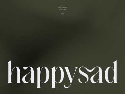 Happysad Brand Identity logotype brand clean subtle agency studio sad happy type outer minimal font ligature wordmark typography visual identity branding design logo