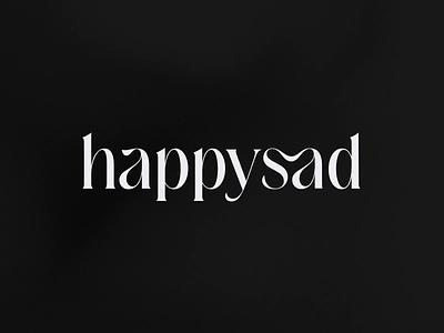 Happysad Logo Animation studio outer identity minimal branding typography preloader loader reveal mark word wordmark logotype design animation logo