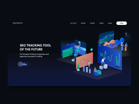 Seo Tracking Tool Landing Page Design