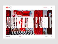 Modern Art Museum Website Concept