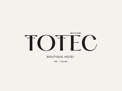 Totec Hotel Logotype Animation outer mexico tulum boutique graphic mark word wordmark logotype typeface hotel type animation icon logo identity branding typography design