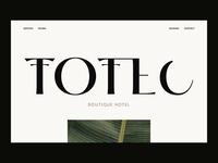 Totec Boutique Hotel Web Design