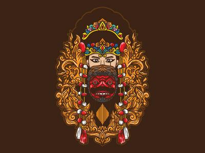 kelana cirebon dance mask