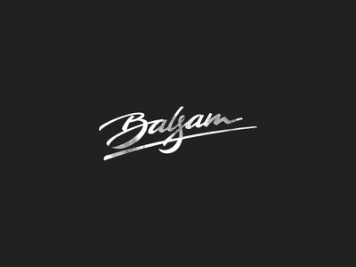 Balsam sketch balsam calligraphy typeface logo brush branding script typography lettering