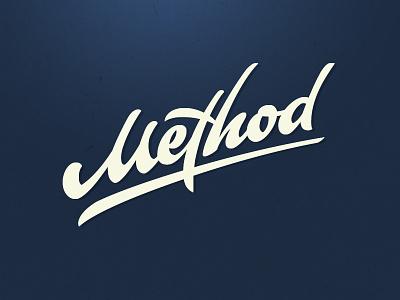 Method branding letters typography script logo design logotype type calligraffiti logo lettering