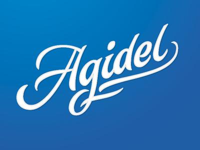 Agidel (it means White River in Bashkir) logotype ufa agidel graphic design wordmark brush type design branding calligraphy logo letters script typography lettering