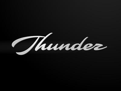 Thunder letterworks vector customtype wordmark graphic design logotype calligraphy branding brush design script font type letters logo typeface typography lettering