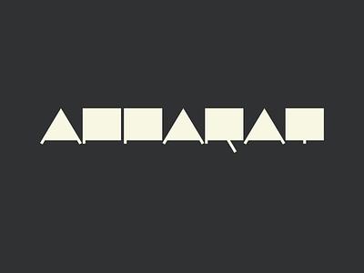 Apparat fanart lp5 branding font vector logotype typography logo letters type design apparat typeface lettering